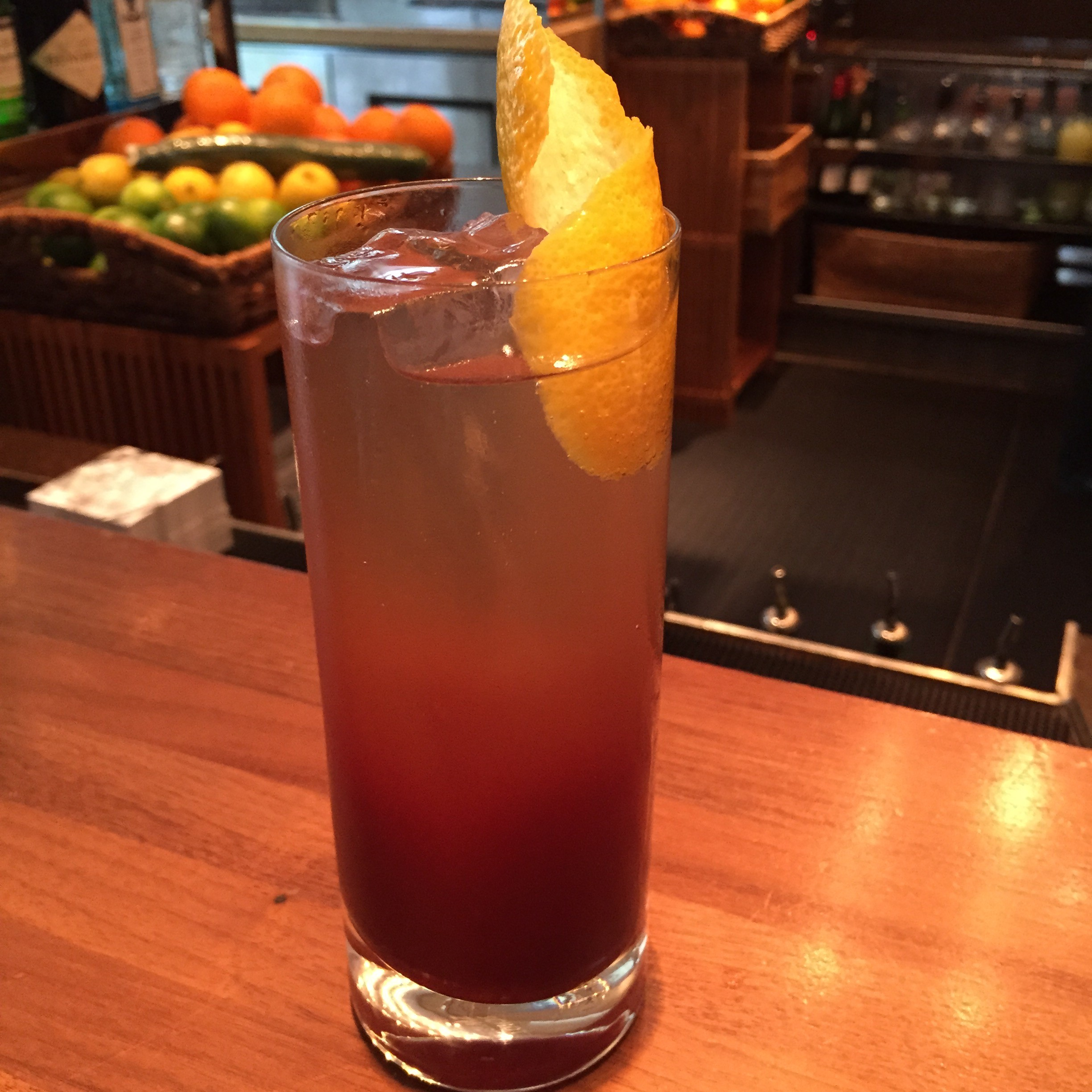 Blue Duck Tavern's summer cocktails include the Cherry Quina made with Plymouth gin, house-made cherry tonic with Bittercube cherry bark bitters and club soda. (Photo: Blue Duck Tavern)