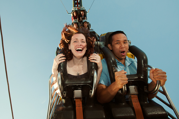 Thrill seeking couples may want to visit an amusement part. (Photo: Picture That Photography)