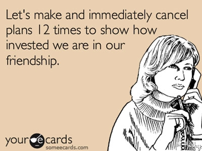 If you're going to surprise your date with a cancellation, at least do it sooner than later. (Photo: www.thefrisky.com)