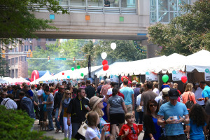 The streets around Ballston Common Mall will be filled with food booths on Sunday. (Photo: Ballston BID)