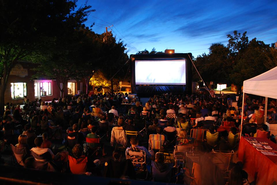 The Bethesda Outdoor Movies will show films nightly July 18-22. (Photo: Bethesda Urban Partnership)