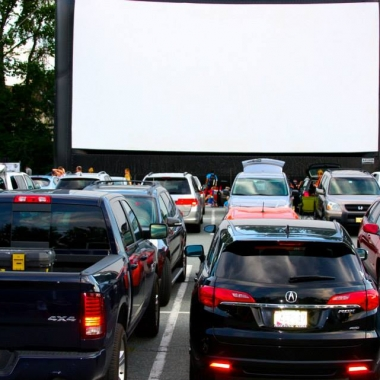 The Comcast Outdoor Film Festival Benefiting NIH Charities brings drive-in movies to the Montgomery Board of Education offices Aug. 21-23. (Photo: Comcast Outdoor Film Festival Benefiting NIH Charities)