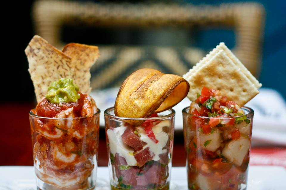 Cuba Libre's special cervices include (l to r) shrimp ceviche, tuna ceviche and bay scallop ceviche. (Photo: Cuba Libre)