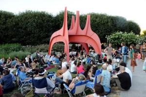 Concert goers enjoy jazz in the National Gallery of Art's sculpture garden. (Photo: National Gallery of Art)