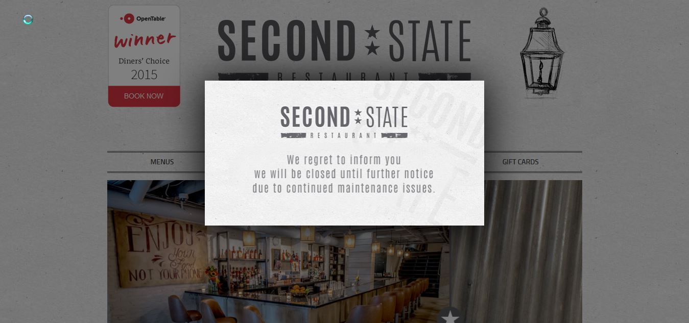 Second State, the Pennsylvania-themed restaurant, has closed. (Photo: Screenshot)