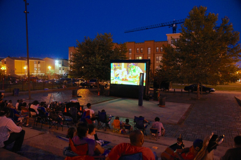 The NoMa Summer Screen features movies each Wednesday through mid-August. (Photo: NoMA BID)