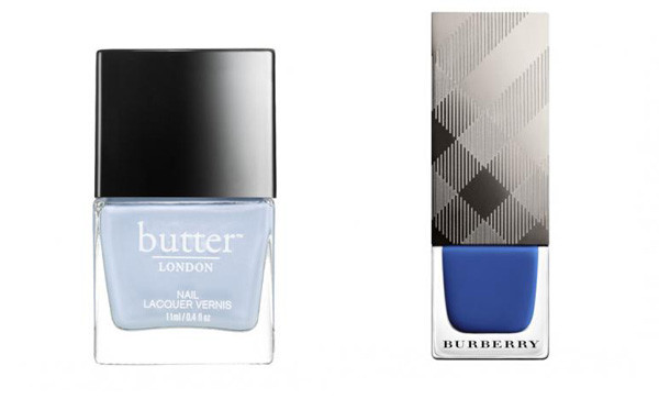 Butter London Kip (left) and Burberry Imperial Blue. (Photos: Butter London and Burberry)
