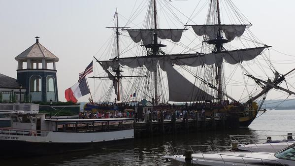 The Hermoine docked in the Alexandria Marina on Wednesday. (Photo: Lafayette College/Twitter)