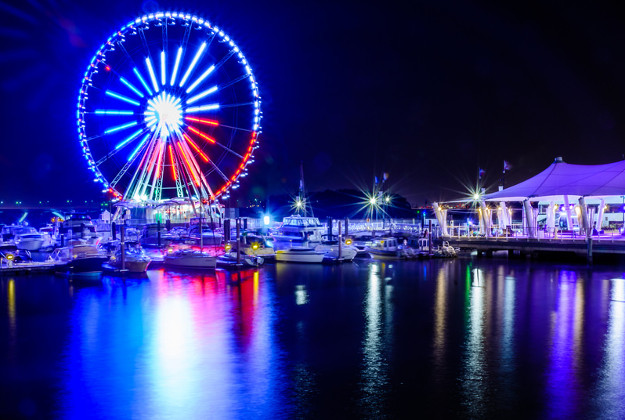 Your date will enjoy the lovely view at National Harbor. (Photo: Geoff Livingston)