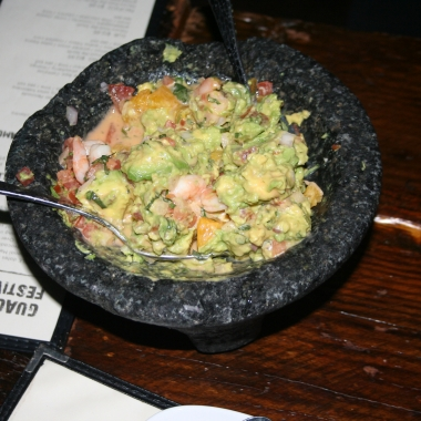 The Yucatan guacamole with shrimp ceviche is one of the specials offered during El Centro D.F.'s guacamole festival. (Photo: Mark Heckathorn/DC on Heels)