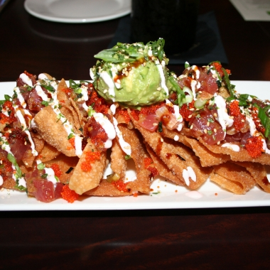 The tuna tartar nachos were a big hit at Trio Grill. (Photo: Mark Heckathorn/DC on Heels)