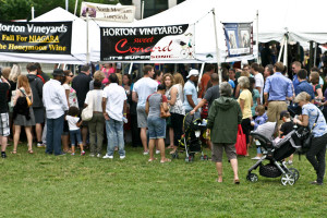 Visitors to last year's Alexandria Food & Wine Festival sample Virginia Wines. (Photo; Alexandria's Food & Wine Festival)
