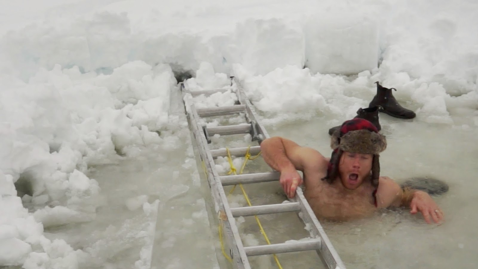 Cold water can keep your skin and hair looking good. (Photo: Captain Quinn/YouTube)