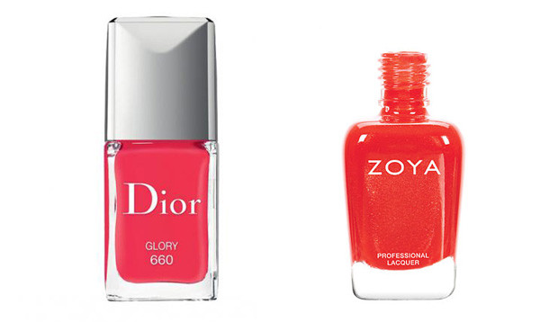 Dior Glory (left) and Zoya Aprhodite (Photos: Dior Beauty and Zoya)