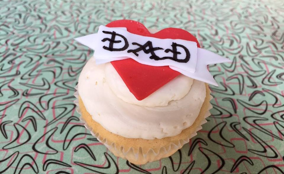 Sticky Fingers Sweets & Eats is selling dad tattoo cupcakes. (Photo: Sticky Fingers Sweets & Eats)