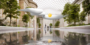 Rendering of Starry Heavens in American Art's Kogod Courtyard. (Rendering: Air Design Studio)Rendering of Starry Heavens in American Art's Kogod Courtyard. (Rendering: Air Design Studio)