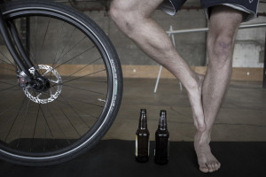 Borga Riide combines bicycling, yoga and beer. (Photo: Grip the Mat)