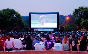 Viewers enjoy a movie in Gateway Park last year. (Photo: District1365)