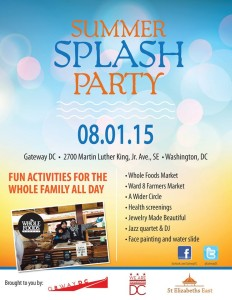 Visit Gateway DC's Summer Spalsh party at St. Elizabeth's for fun and health screenings. (Photo: Gateway DC)