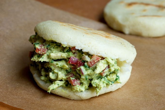 Del Campo has launched an arepas menu with a dozen varieties on it. (Photo: Heather Homemade/TasteSpotting)
