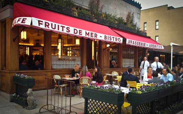 Le Diplomate's patio will become  a streetside pétanque court during its Bastille Day celebration. (Photo: Borderstan)