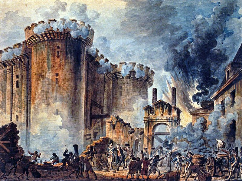 The storming of the Bastille led to the birth of the French Republic (Image: Jean-Louis Houel/Bibliotheque Nationale de France)