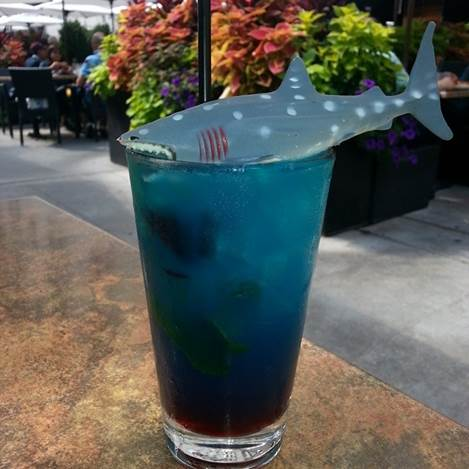 Old Town Pour House in Gaithersburg will be serving the special Blue Chum cocktail for Shark Week. (Photo: Old Town Pour House)