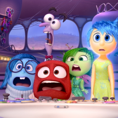 Sadness (L to R), Fear, Anger, Disgust and Joy from Inside Out. (Photo: Pixar)