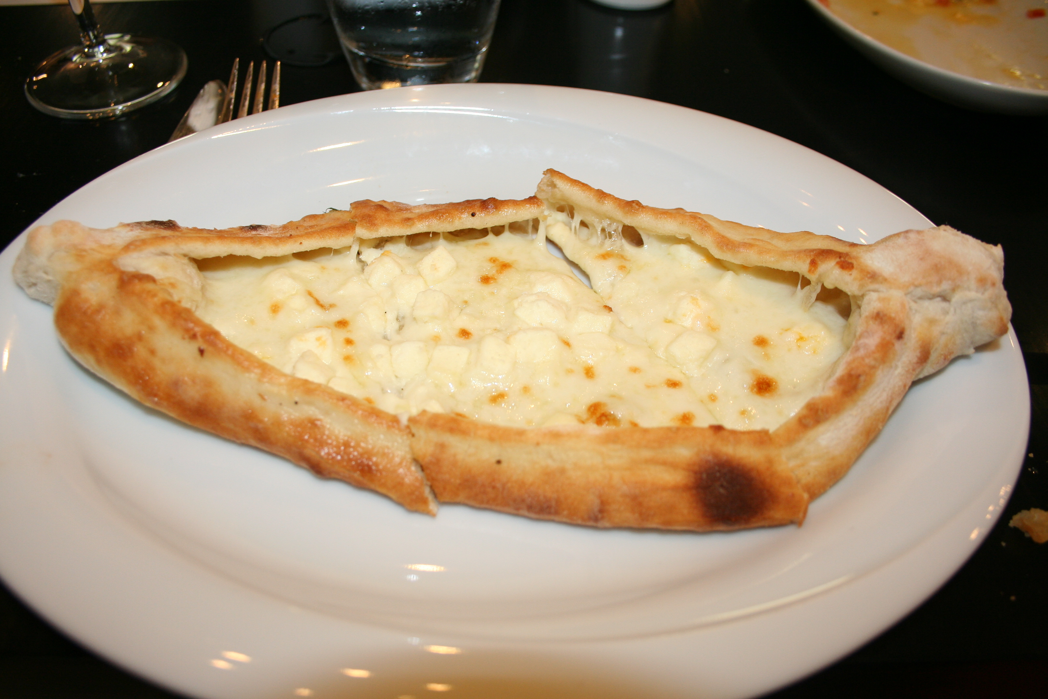 They peynirli pide flatbread is cheesy and delicious. (Photo: Mark Heckathorn/DC on Heels)