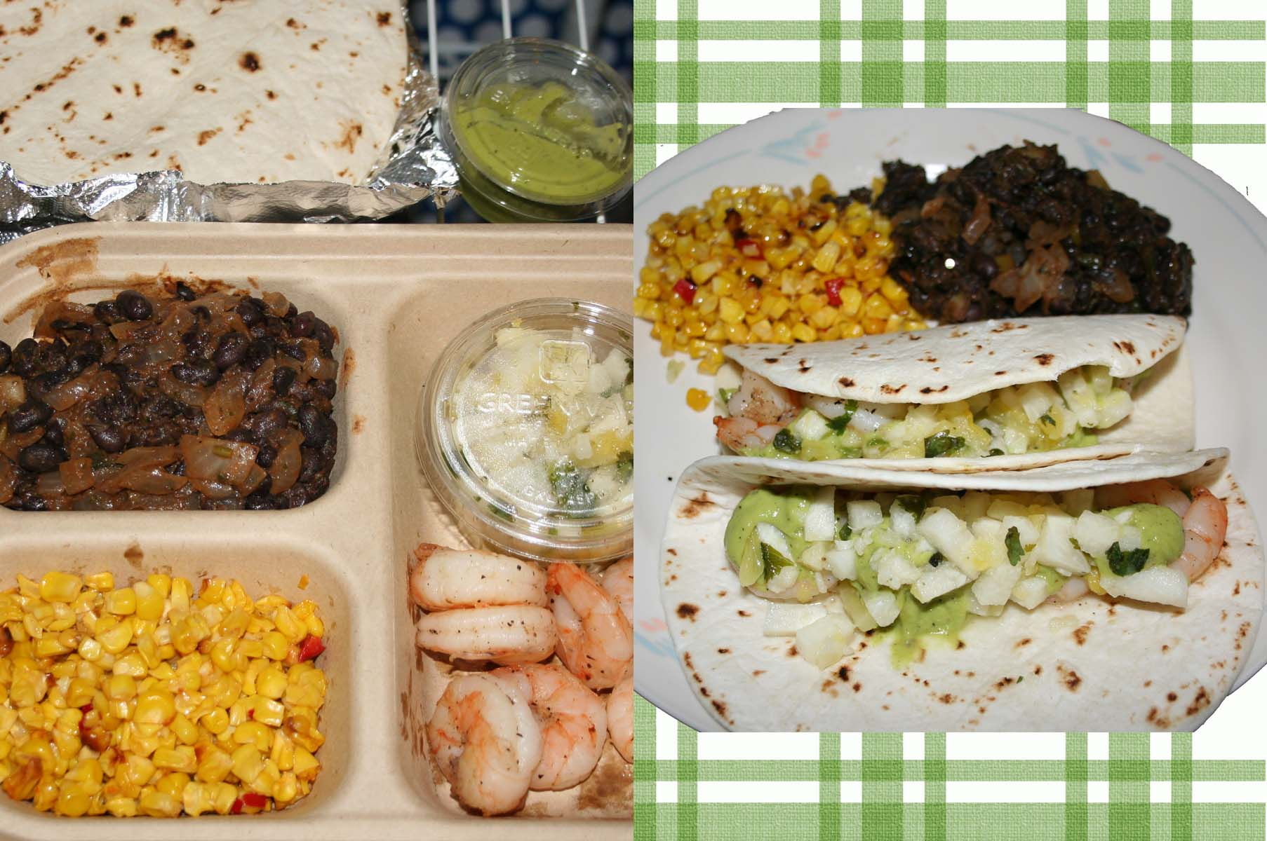 Shrimp tacos with corn and black beans was a meal worth ordering again. (Photos: Mark Heckathorn/DC on Heels)