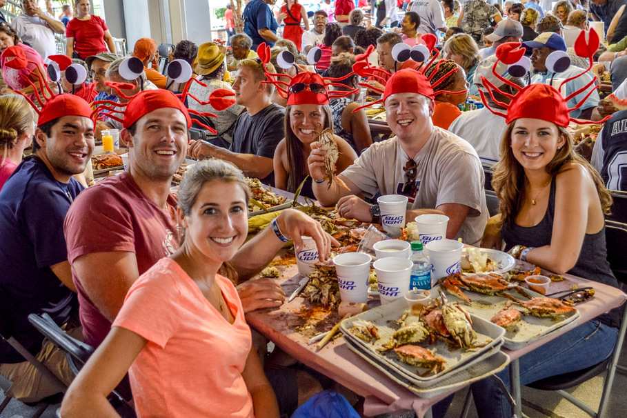 The Annapolis Rotary Club's crab feast will serve 320 bushels of crabs to raise money for charity. (Photo: Rotary Club of Annapolis)