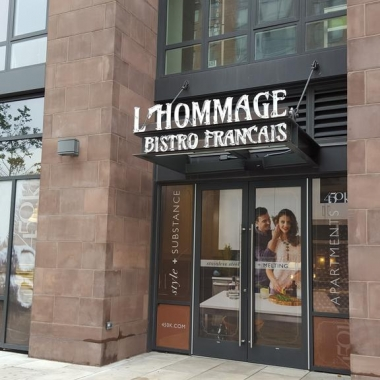L'Hommage Bistro Francais will open in September in Mount Vernon Triange. (Photo: Rebecca Cooper/WBJ)