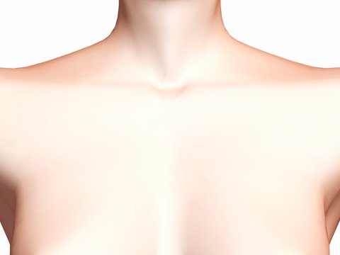 The skin on your upper chest is especially prone to show the signs of aging (Photo: Dreamstime)