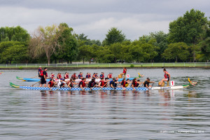 Teams compete in last year's dragon boat race. (Photo: John Soule)