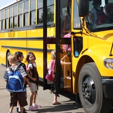 With back-to-school time approaching, parents should talk to their children about school bus safety. (Photo: iStockPhoto)