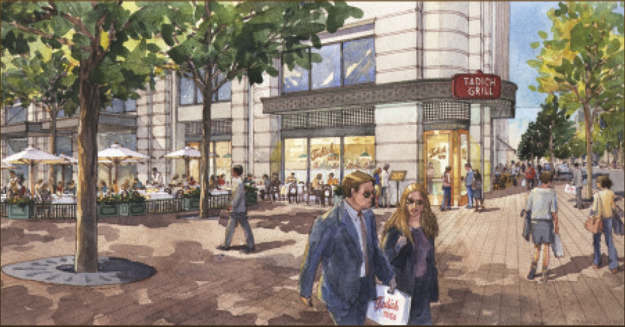 San Francisco-based Tadich Grill will open a restaurant along Pennslvania Avenue. (Rendering: Tadich Grill)