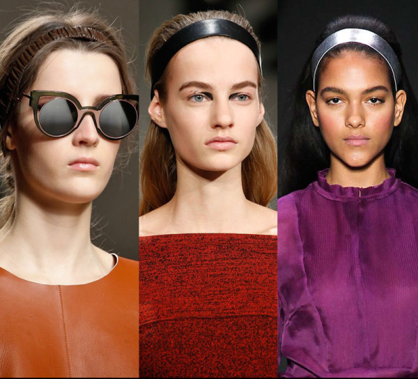 Models from deisgners Fendi, Proenza Schouler and Honor. (Photos: Pinterest)