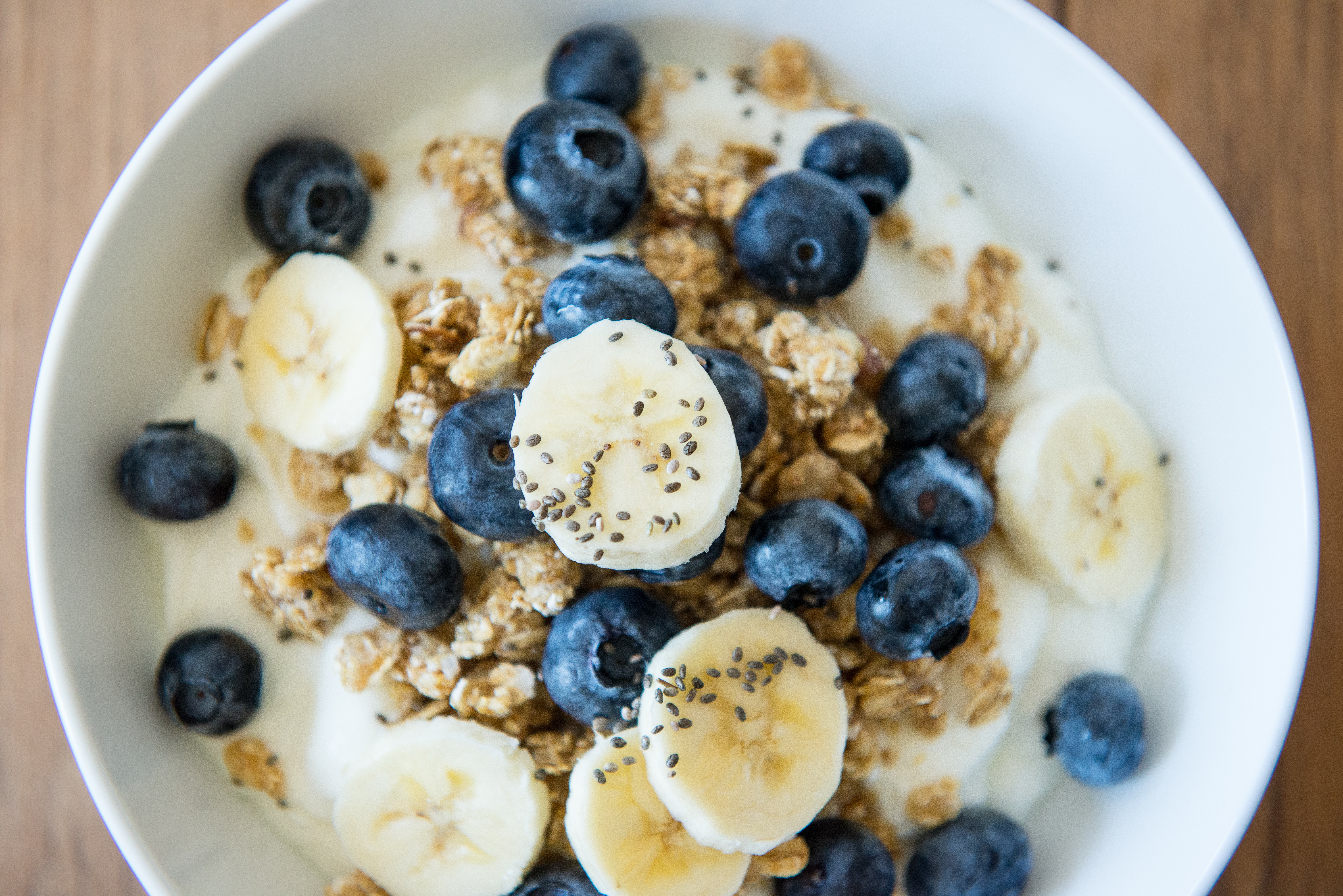 Cava Grills new airport location is serving breakfast including this yogurt with banana and blueberries. (Photo: Cava Grill)