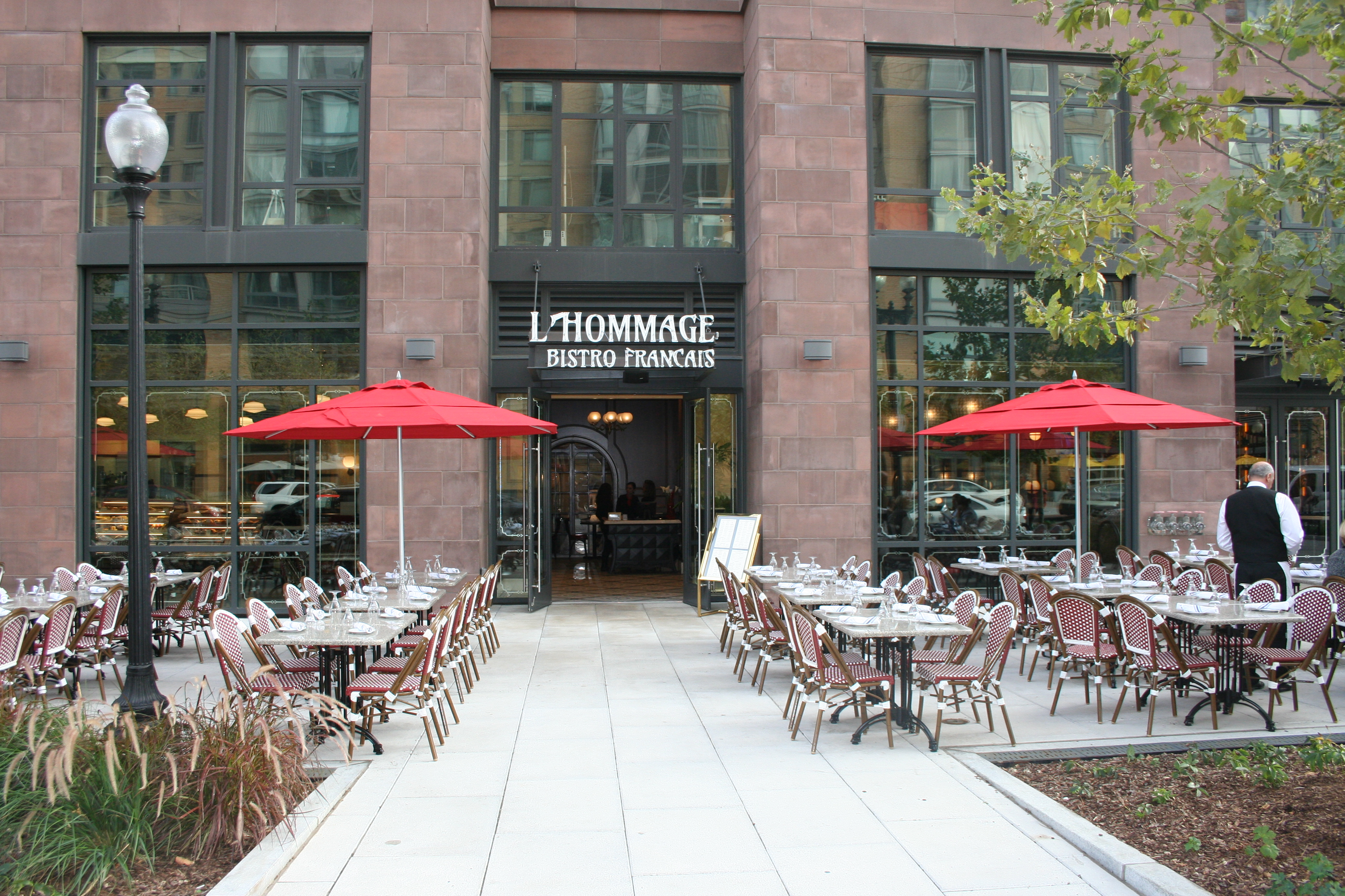 L'Hommage Bistro Francais opened Sept. 11 at 450 K St. NW. (Photo: Mark Heckathorn/DC on Heels)