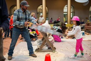 Get hands-on with tools, trucks and other construction materials and machinery at the National Building Museum's Big Build. (Photo: Emily Clack Photography)