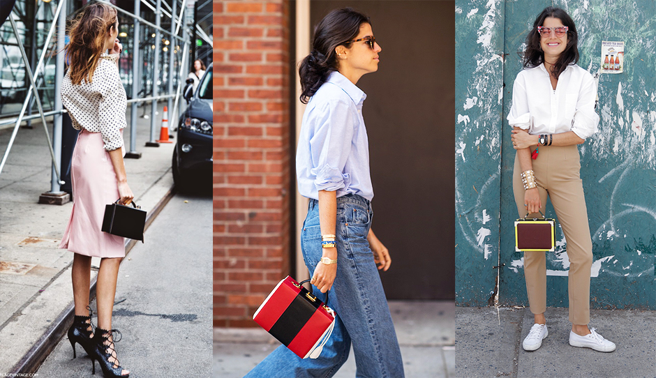 Top handle box bags are great for carrying your cosmetics or your lunch. (Photo: Nika Huk)