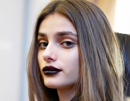 Deep burgundy lips are are de rigueur this fall. (Photo: Antonello)