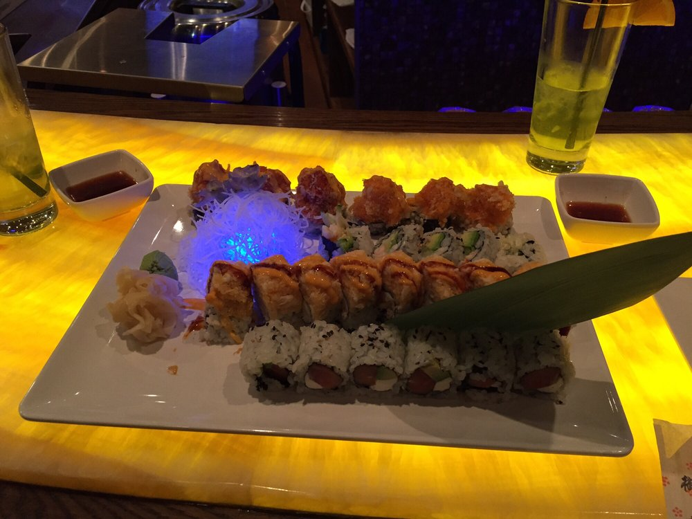 Philadelphia, Boston, King Crab Republic and Volcano rolls at Kabu. (Photo: Tye M./Yelp)