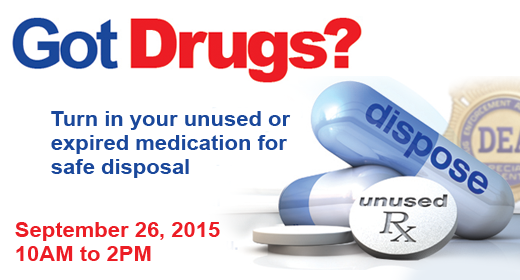 Many government agencies will collect unused drugs on Sept. 26 from 10 a.m.-2 p.m. (U.S. Drug Enforcement Administration)