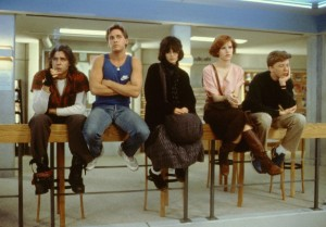 "The AFI Silver will show ""The Breakfast Club"" at noon on Monday. (Photo: The Kobal Collection)"