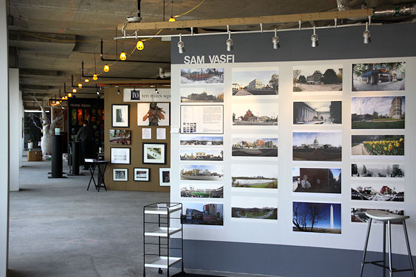 A photography display at a previous Artomatic, which opens in Hyattsville this weekend. (Photo: JDLand)