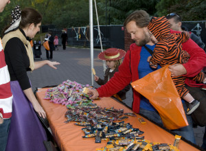 Children get candy from one of 40 stations during Boo at the Zoo. (Photo: National Zoo)