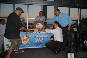 Chef Duff Goldman taps the first keg at a previous Baltimore Beer Week. (Photo: Baltimore Beer Week)
