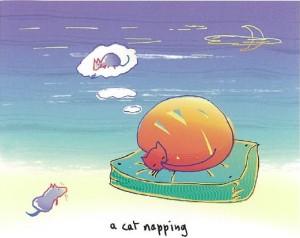 John Lennon's <em>A Cat Napping</em> (Drawing: John Lennon)