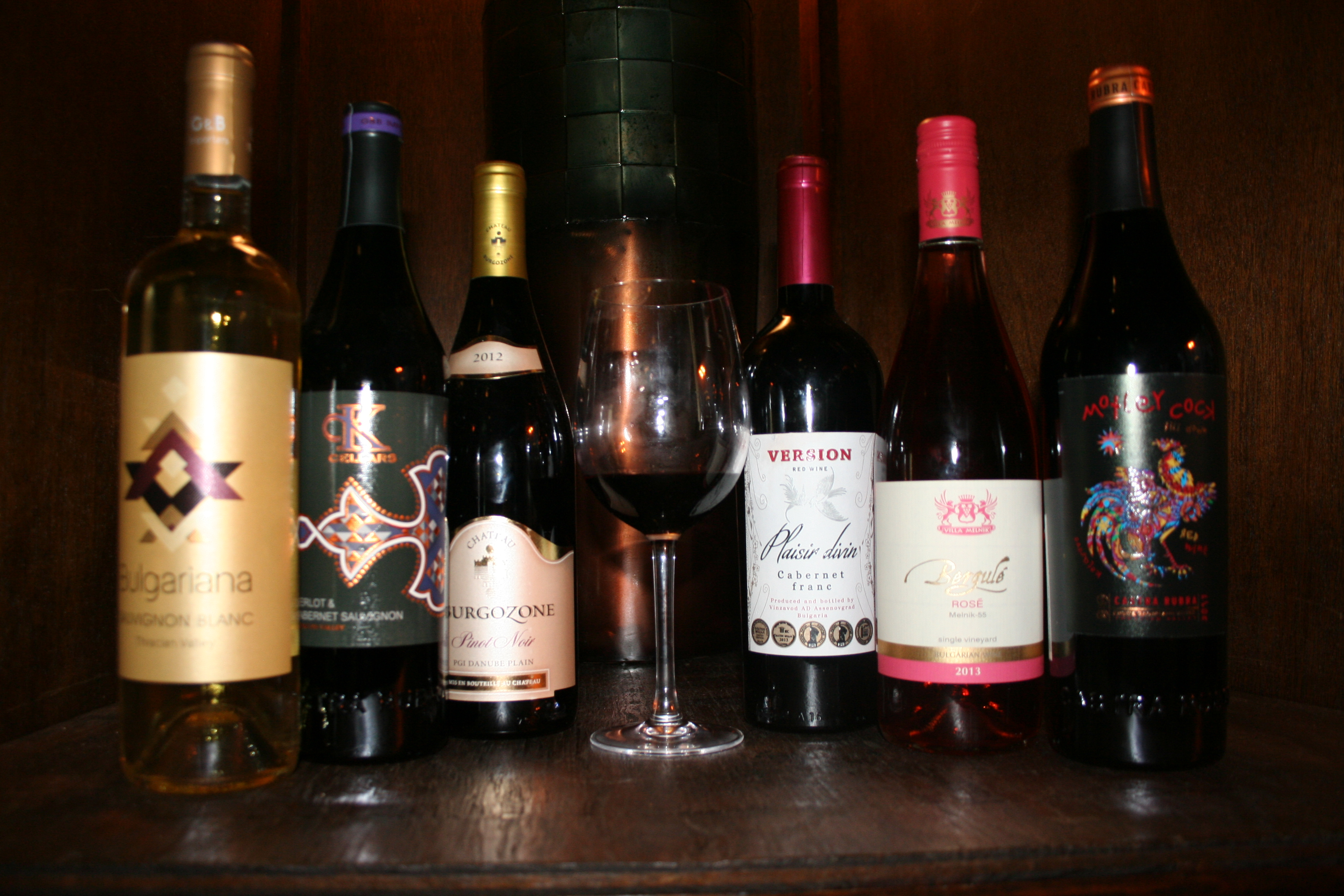 A samplings of Bulgarian wines. (Photo: Mark Heckathorn/DC on Heels)